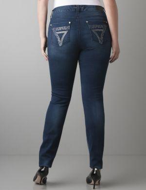Embellished pocket skinny jean by Seven7