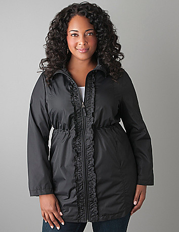 Plus Size Nylon Trench Coat by Lane Bryant