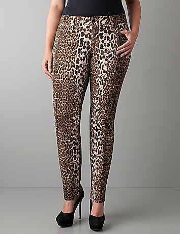 Leopard print slim fit jean by Seven7