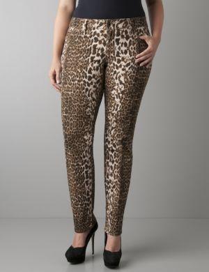 Leopard print skinny jean by Seven7