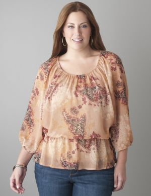 Paisley dolman blouse