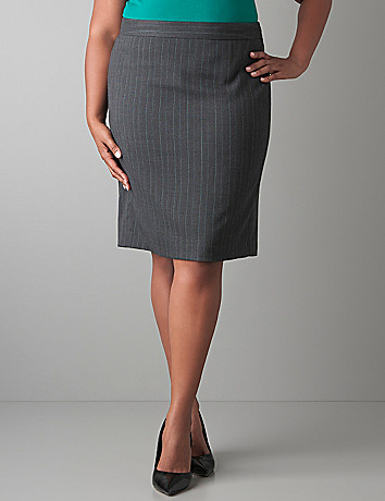 Plus Size Striped Pencil Skirt by Lane Bryant