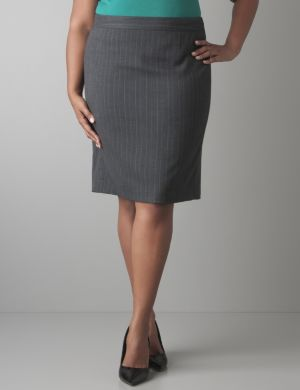 Subtle stripe pencil skirt