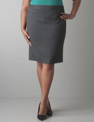 Subtle stripe pencil skirt