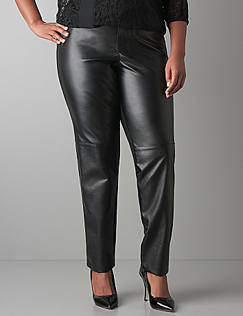 Faux leather front legging by Lane Bryant