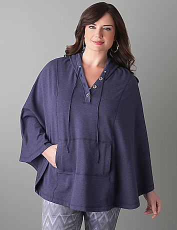 Plus Size Hooded Cape by Lane Bryant