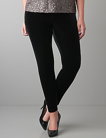 Plus size velvet legging by Lane Bryant