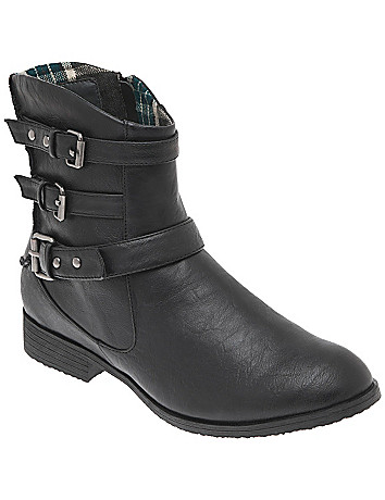 Ankle moto boot by Lane Bryant