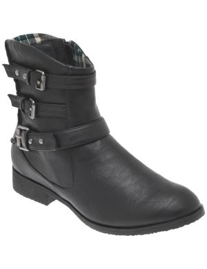 Ankle moto boot