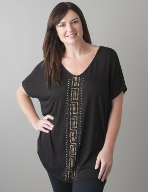 Studded V-neck top by Seven7