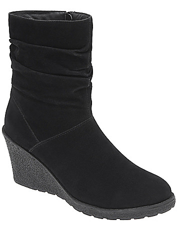 Slouched wedge boot by Lane Bryant