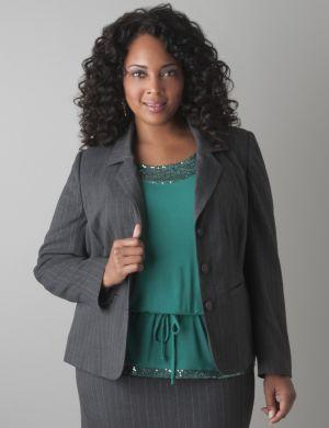 Subtle stripe suit jacket
