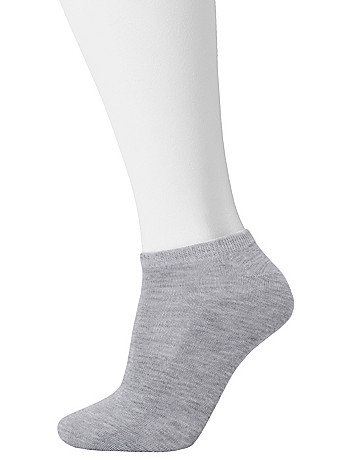 Cushioned ankle sock duo by Lane Bryant