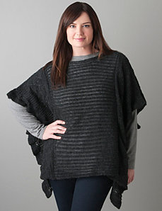 Open stitch poncho sweater by Lane Bryant