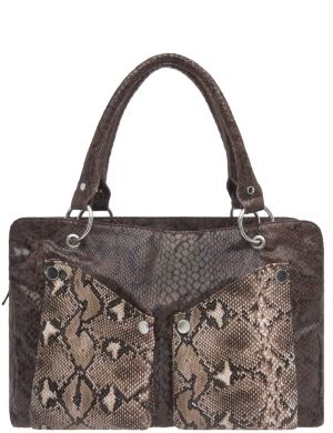 Colorblock snakeskin satchel by Lane Bryant