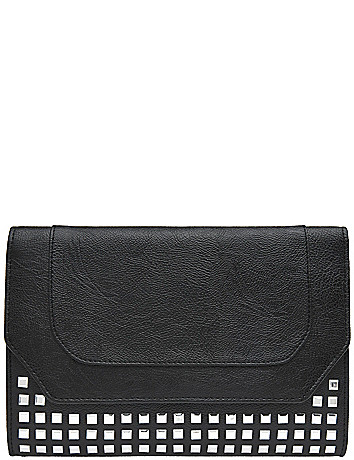 Studded clutch bag by Lane Bryant