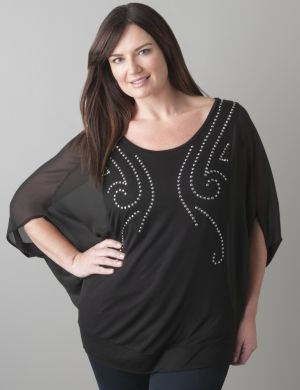 Studded batwing top by Seven7