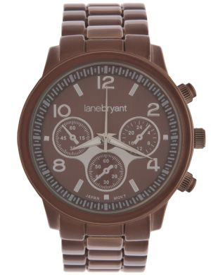 Chocolate fashion watch by Lane Bryant