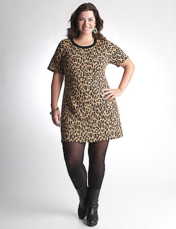 Animal print sweater dress by Lane Bryant