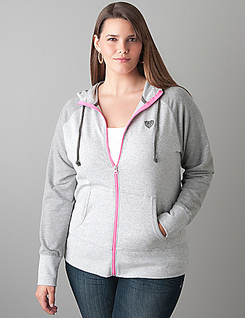 Colorblock hoodie by Lane Bryant