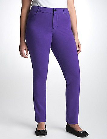 Plus size Jean-style knit pant by Lane Bryant