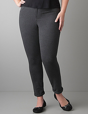 Full Figure Slim Fit Knit Pant by Lane Bryant