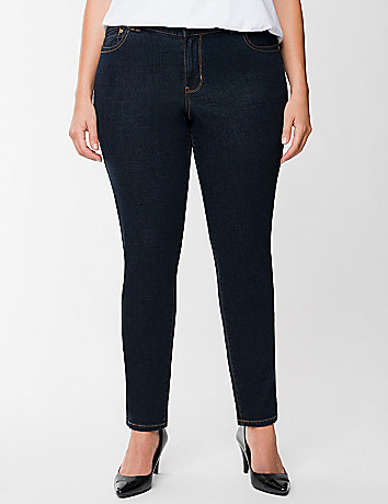 Genius Fit dark rinse jegging  by Lane Bryant