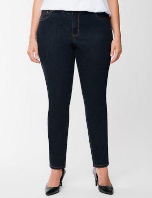 Genius Fit™ dark rinse skinny jean
