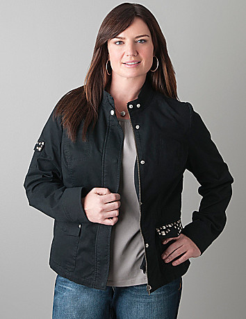 Embellished military jacket by Lane Bryant