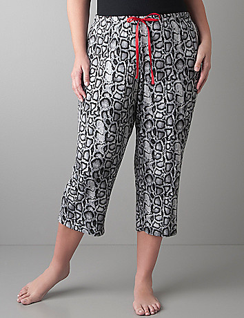 Tru to You python print cropped sleep pant by Cacique