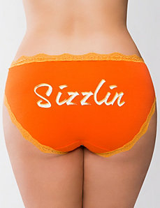 Sizzlin' cotton hipster panty