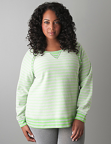 Plus Size Reversible Stripe Sweatshirt