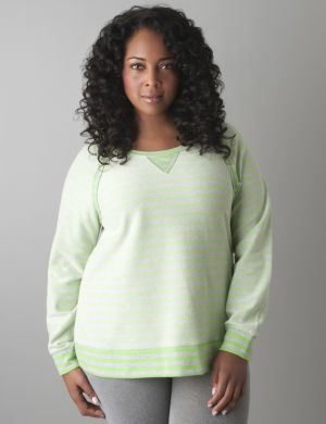 Reversible stripe sweatshirt