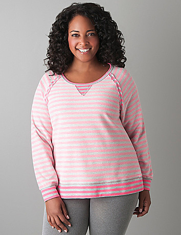Reversible stripe sweatshirt by Lane Bryant