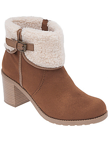 Shearling ankle boot by Lane Bryant