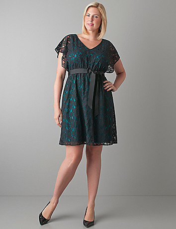 Color pop lace dress by Lane Bryant