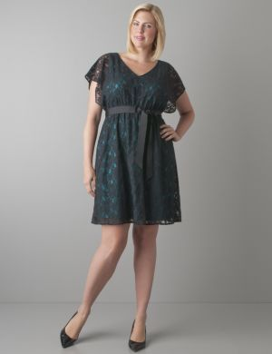 Color pop lace dress