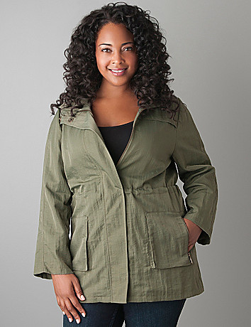 Hooded anorak jacket by Lane Bryant