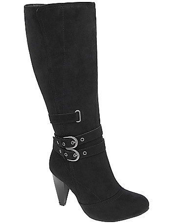 Buckled tall boot by Lane Bryant