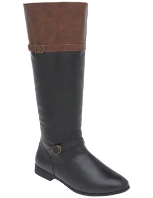 Colorblock riding boot