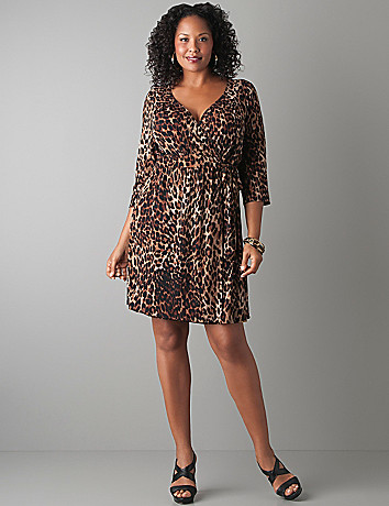 Plus Size Animal Print Wrap Dress by Lane Bryant
