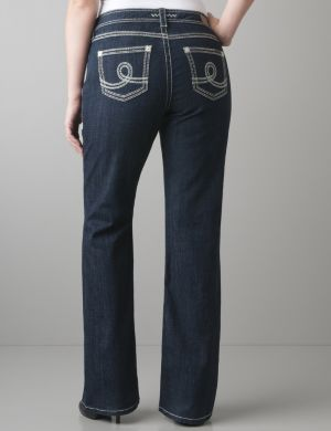 Stitch accent bootcut jean by Seven7