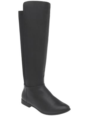 Stretch calf riding boot