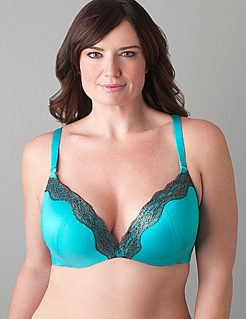Sparkle lace plunge bra by Cacique