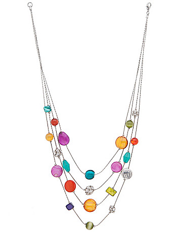 Nested glass bead necklace by Lane Bryant