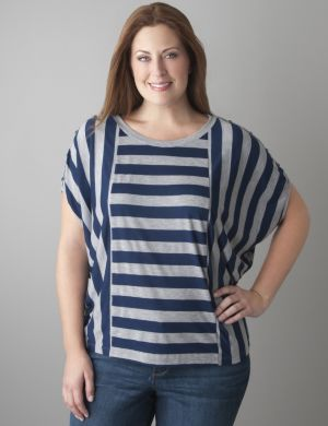 Double stripe dolman tee