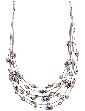 Etched bead illusion necklace by Lane Bryant