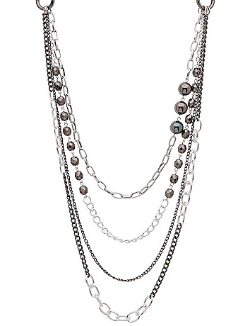 Bead and chain layered necklace by Lane Bryant