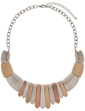 Tri-tone tribal necklace by Lane Bryant