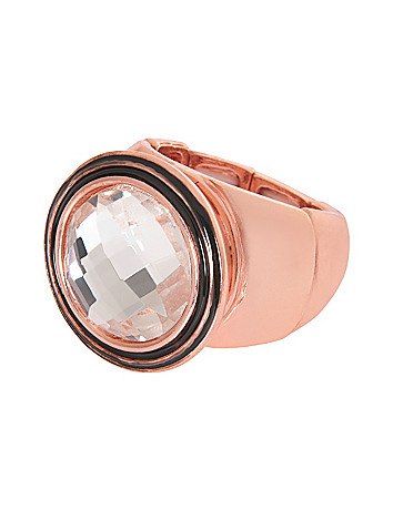 Rose goldtone cocktail ring by Lane Bryant